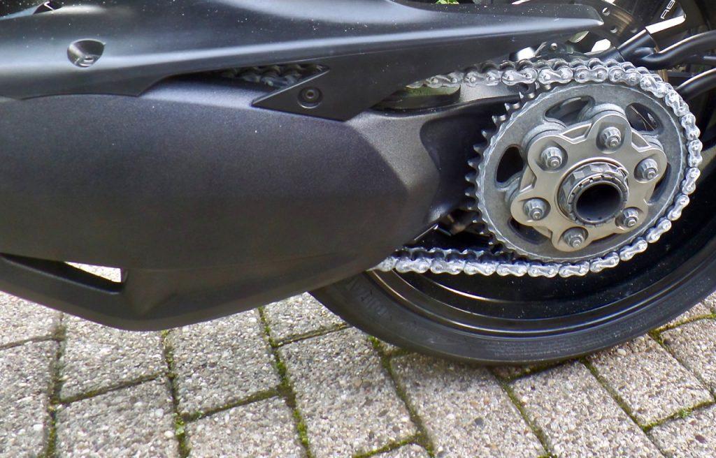 versleten ketting motorfiets