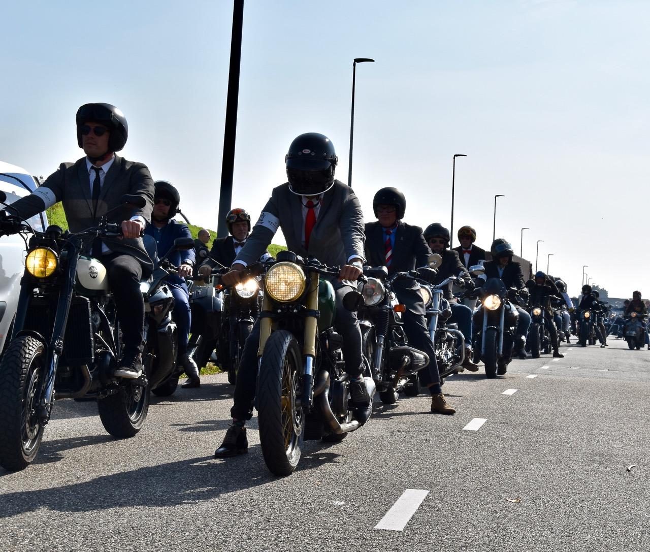 groep motorrijders