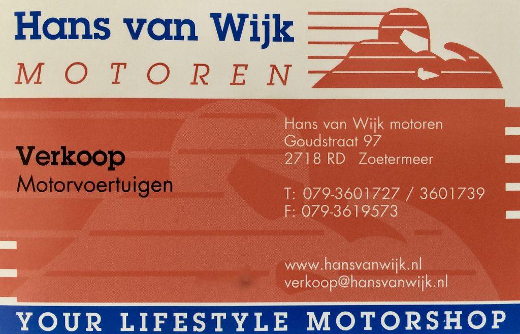 Hans van Wijk motoren