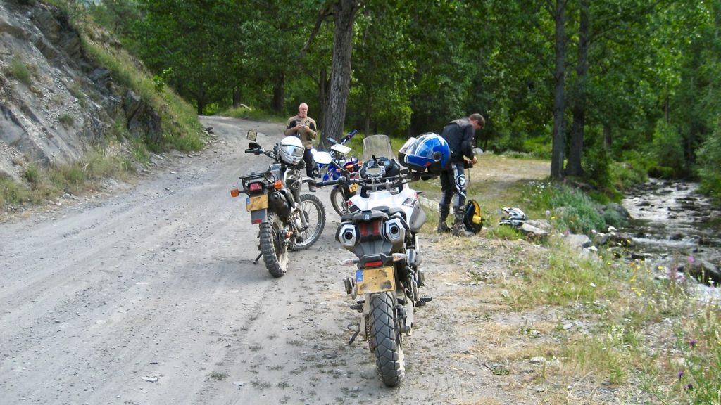 Avontuurlijk motorrijden